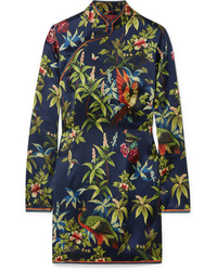 Vestito a trapezio a fiori blu scuro di F.R.S For Restless Sleepers