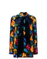 Vestito a trapezio a fiori multicolore di Gucci