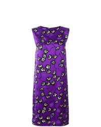 Vestito a trapezio a fiori viola di Marni