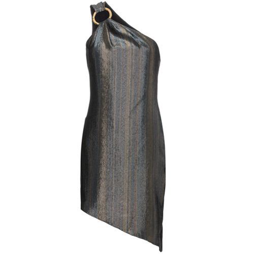 Vestito a trapezio argento di Haney