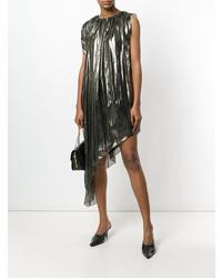 Vestito a trapezio argento di Lanvin