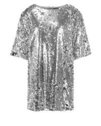 Vestito a trapezio argento di Missguided