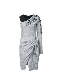 Vestito a trapezio argento di Patbo