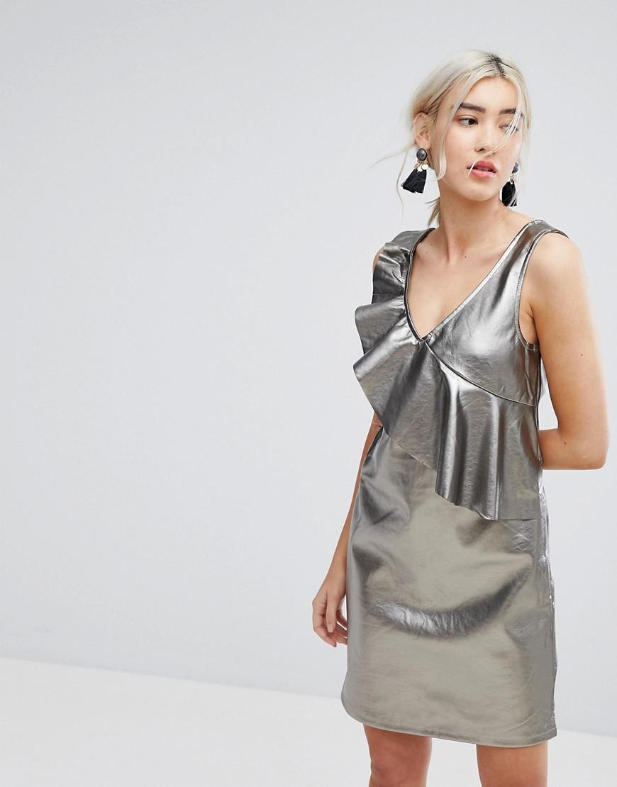 Vestito a trapezio argento di Vila