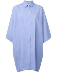 Vestito a trapezio azzurro di Jil Sander
