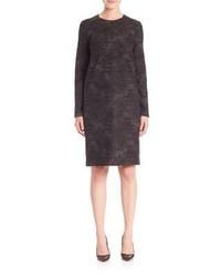 Vestito a trapezio di lana grigio scuro