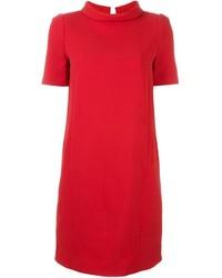 Vestito a trapezio di lana rosso di Twin-Set