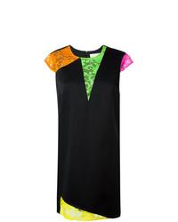 Vestito a trapezio di pizzo geometrico nero di Christopher Kane