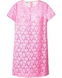 Vestito a trapezio di pizzo rosa