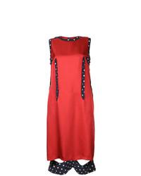 Vestito a trapezio di seta rosso di Maison Margiela