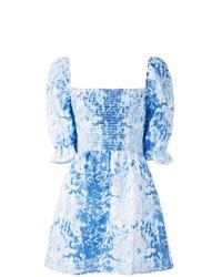 Vestito a trapezio effetto tie-dye azzurro di Reformation