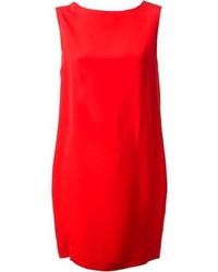 Vestito a trapezio rosso