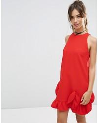 Vestito a trapezio rosso di Asos