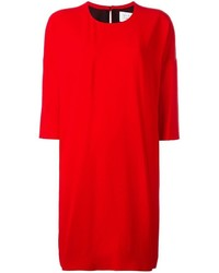 Vestito a trapezio rosso di Gianluca Capannolo