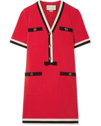 Vestito a trapezio rosso di Gucci