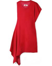 Vestito a trapezio rosso di MM6 MAISON MARGIELA