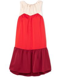 Vestito a trapezio rosso di Paper London
