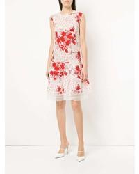 ... Vestito a trapezio stampato bianco e rosso di Ermanno Scervino 7a0235324d5