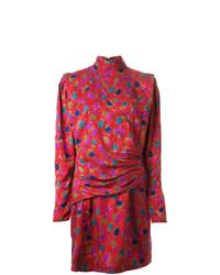 Vestito a trapezio stampato rosso di Emanuel Ungaro Vintage