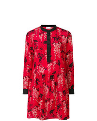 Vestito a trapezio stampato rosso di RED Valentino