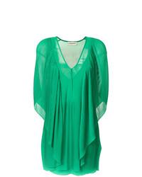 Vestito a trapezio verde di By Malene Birger