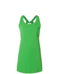 Vestito a trapezio verde di Capucci