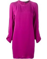 Vestito a trapezio viola melanzana
