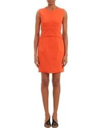 Vestito a tubino arancione