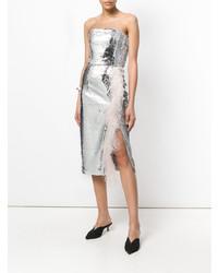 Vestito a tubino con paillettes argento di 16Arlington