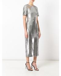 Vestito a tubino con paillettes argento di Dvf Diane Von Furstenberg