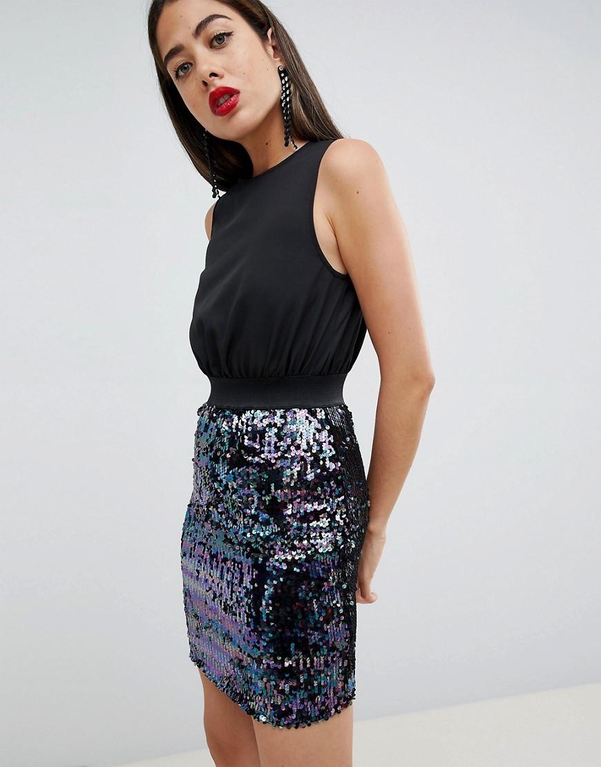 online retailer 906d9 92841 Vestito a tubino con paillettes nero di AX Paris