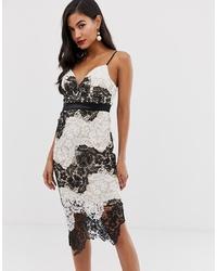 big sale 5cb01 98db8 Vestiti a tubino di pizzo bianchi e neri da donna   Moda ...
