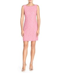Vestito a tubino di pizzo rosa