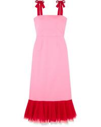 Vestito a tubino rosa di Staud