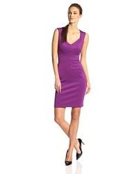 Vestito a tubino viola melanzana