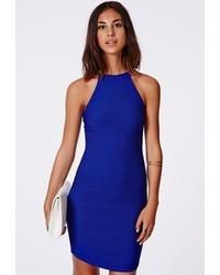 Vestito aderente blu