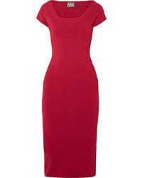 Vestito aderente lavorato a maglia rosso di SOLACE London