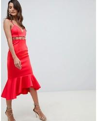 Vestito aderente rosso di ASOS DESIGN
