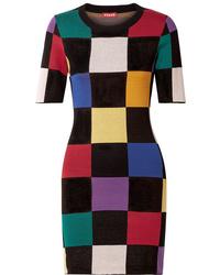 Vestito aderente stampato multicolore di Staud