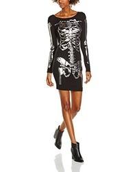 Vestito aderente stampato nero di Boohoo