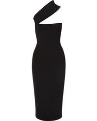 Vestito aderente tagliato nero di SOLACE London