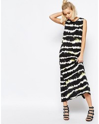 Vestito canotta a righe orizzontali nero e bianco di Cheap Monday