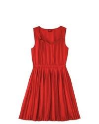 Vestito casual a pieghe rosso