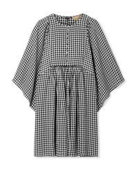 Vestito casual a quadretti bianco e nero di Michael Kors Collection