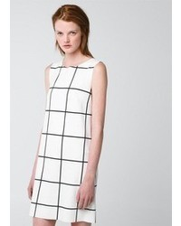 Vestito casual a quadri bianco e nero