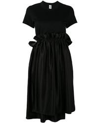 Vestito casual con volant nero
