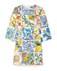 Vestito casual stampato multicolore di Dolce & Gabbana