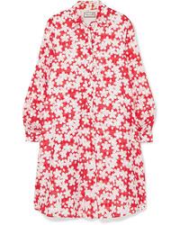Vestito chemisier a fiori rosso di Paul & Joe