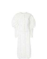 Vestito chemisier a pois bianco di Georgia Alice