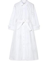 Vestito chemisier bianco di Carolina Herrera